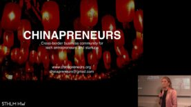 """Chinapreneurs"" by Marie Claire Maxwell of Cloudberry Communications (@STHLMHW #6)"