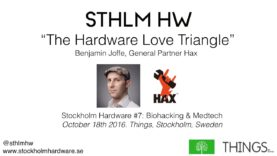 """The Hardware Love Triangle"" by Benjamin Joffe of Hax (STHLMHW #7)"